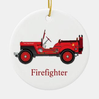 Feuerwehrmann Keramik Ornament