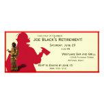 Feuerwehrmann-kundenspezifische Ruhestands-Party Einladungskarten