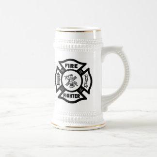 Feuerwehrmann maltesisch bierglas
