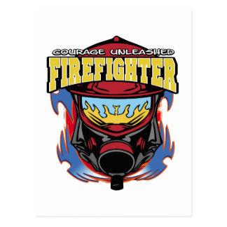 Feuerwehrmann-Mut Postkarte