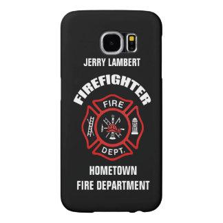 Feuerwehrmann-Namensschablone