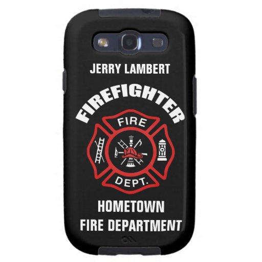 Feuerwehrmann-Namensschablone Schutzhülle Fürs Samsung Galaxy S3