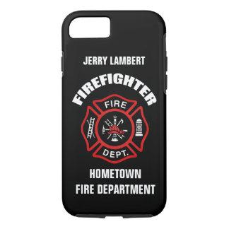 Feuerwehrmann-Namensschablone iPhone 7 Hülle