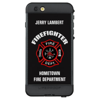 Feuerwehrmann-Namensschablone LifeProof NÜÜD iPhone 6s Plus Hülle
