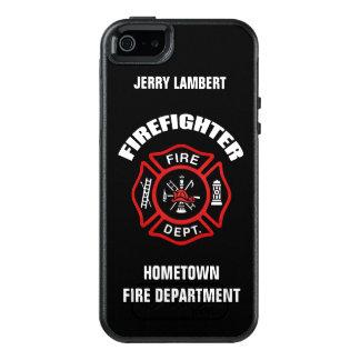 Feuerwehrmann-Namensschablone OtterBox iPhone 5/5s/SE Hülle