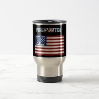 Feuerwehrmann-Reise-Tassen-patriotisches Thema