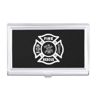 Feuerwehrmann-Rettung Visitenkarten Dose