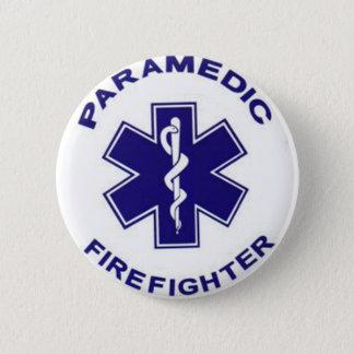 Feuerwehrmann-Sanitäter Runder Button 5,7 Cm