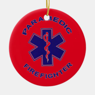Feuerwehrmann-Sanitäter Rundes Keramik Ornament