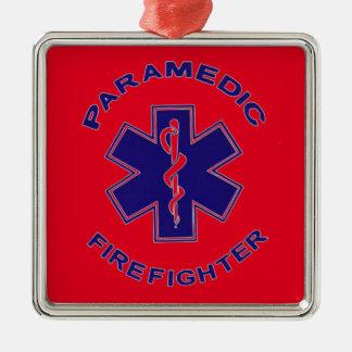 Feuerwehrmann-Sanitäter Silbernes Ornament