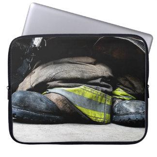 Feuerwehrmann-Stiefel Laptop Sleeve
