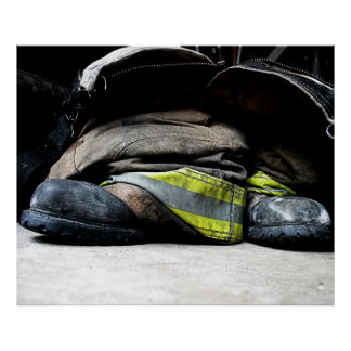 Feuerwehrmann-Stiefel Poster