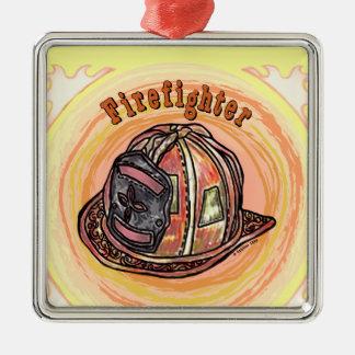 Feuerwehrmann-Sturzhelm Silbernes Ornament