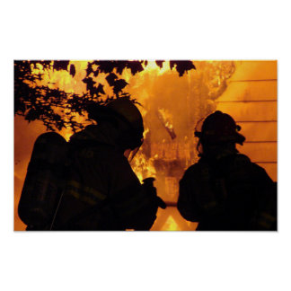 Feuerwehrmann-Team Poster