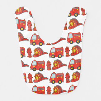 Feuerwehrmann-themenorientiertes Muster Babylätzchen