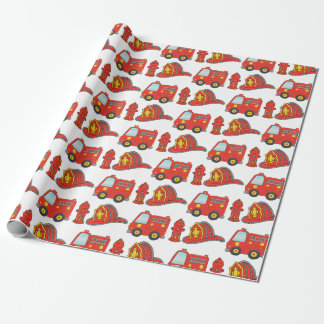 Feuerwehrmann-themenorientiertes Muster Geschenkpapier