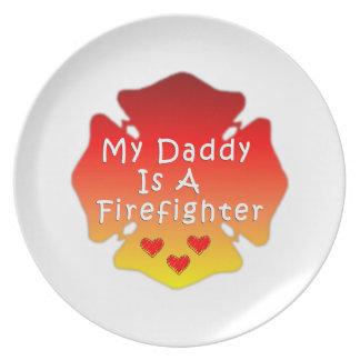 Feuerwehrmann-Vati Teller