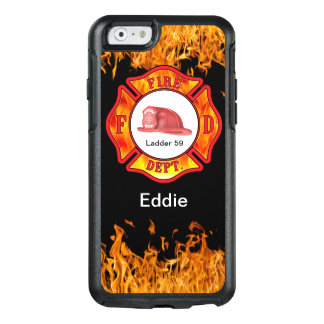 Feuerwehrmann-Verteidiger-Namen-Tropfen-Fall OtterBox iPhone 6/6s Hülle