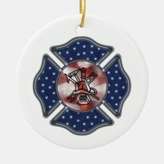 Feuerwehrmann-Weihnachten Keramik Ornament
