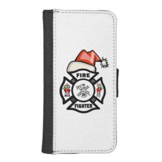 Feuerwehrmann Weihnachtsmann iPhone SE/5/5s Geldbeutel Hülle