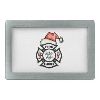 Feuerwehrmann Weihnachtsmann Rechteckige Gürtelschnallen