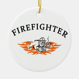 Feuerwehrmann-Weihnachtsverzierungen Keramik Ornament