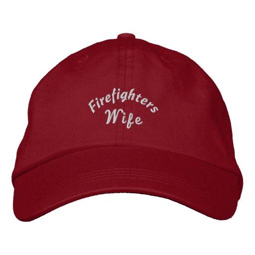 Feuerwehrmänner, Ehefrau-Gestickter Hut Bestickte Baseballcaps