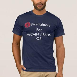 Feuerwehrmänner für McCAIN/PALIN O8 T-Shirt