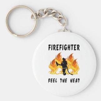 Feuerwehrmänner glauben der Hitze Schlüsselanhänger