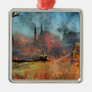 Feuerwehrmänner sind unsere wahren Helder Silbernes Ornament