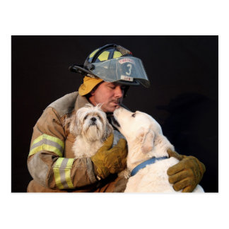 Feuerwehrmannrettung Postkarte