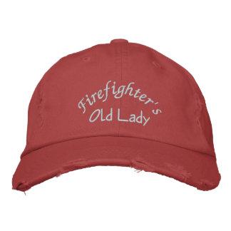 Feuerwehrmanns, alter Dame-Gestickter Hut-Kappe Bestickte Kappe