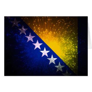 Feuerwerk; Bosnien-Flagge Karten