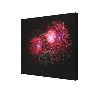 Feuerwerk Leinwanddruck