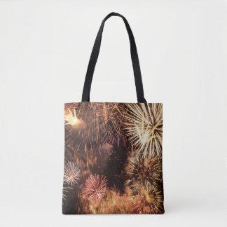 Feuerwerkbild für ganz vorbei - drucken Sie Tasche