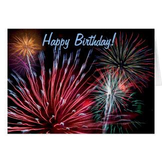 Feuerwerke, alles Gute zum Geburtstag! Grußkarten