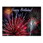 Feuerwerke, alles Gute zum Geburtstag! Postkarten