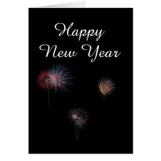 Feuerwerke des guten Rutsch ins Neue Jahr 3 Karte