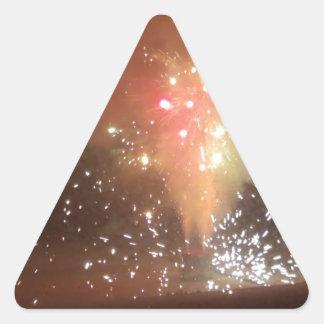 Feuerwerke Dreieckiger Aufkleber