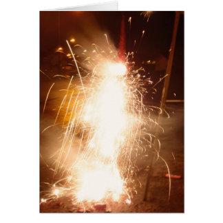 Feuerwerke Hula Mädchen Karte