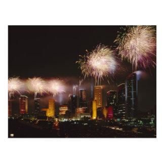 Feuerwerke in Houston Texas Postkarte
