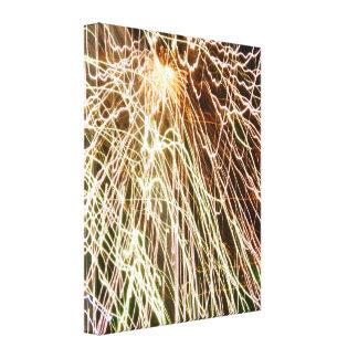 Feuerwerke Leinwanddruck