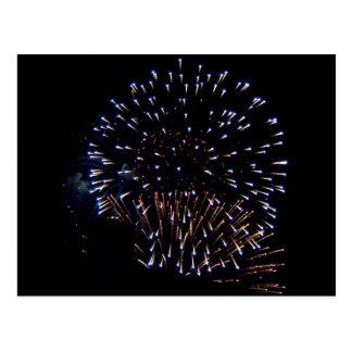Feuerwerke Postkarte