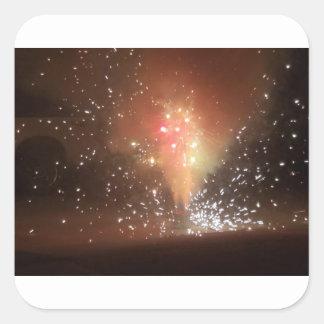 Feuerwerke Quadratischer Aufkleber