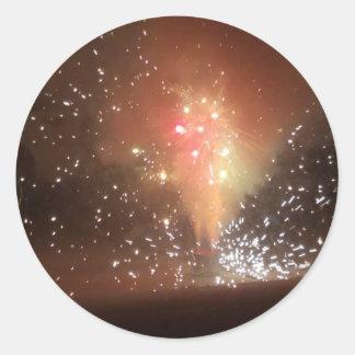 Feuerwerke Runder Aufkleber