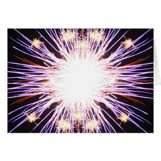 Feuerwerke - schreiben Sie Ihren eigenen Text Karte