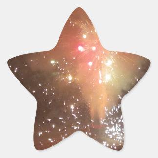 Feuerwerke Stern-Aufkleber