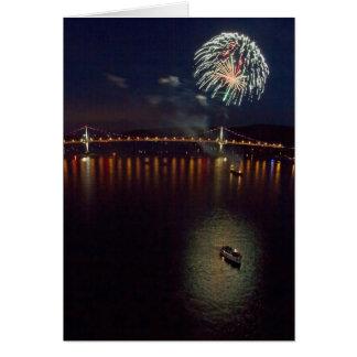 Feuerwerke über dem Hudson Karte