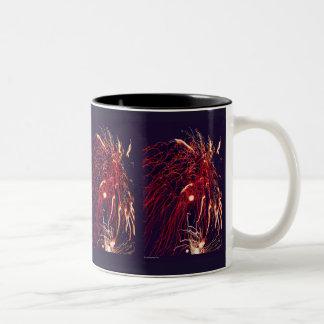 Feuerwerke Zweifarbige Tasse