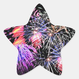 Feuerwerks-Anzeige Stern-Aufkleber